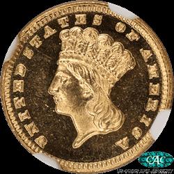 1885  Indian Princess Gold Dollar NGC PF-65 STAR CAMEO