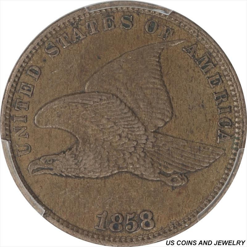1858  Flying Eagle Cent Small Letters PCGS