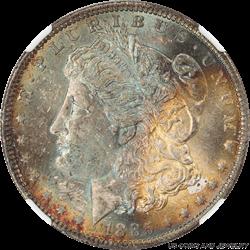 1885-O Morgan Silver Dollar  NGC MS63 Superb Colorful Obverse & Halo Reverse PQ+
