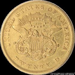 1852 Liberty $20 Gold Double Eagle