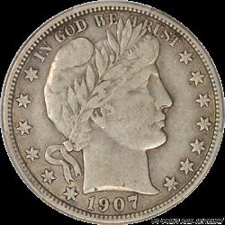 1907-O Barber Half Dollar PCGS VF30 New Orleans Mint Half