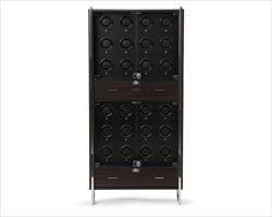 1834 Regent 24 pc Cabinet Watch Winder Matte Black
