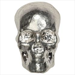 3oz Silver Skull Poured Bars .999 Fine Silver