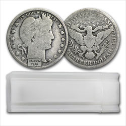 90% Barber Quarter Roll -Circulated Condition-