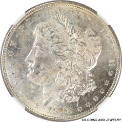1878-S Morgan Silver Dollar NGC MS64 Choice BU+ Nice Attractive Coin
