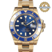 ROLEX 40mm Submariner Date 116618 18K YG and Blue Watch Only