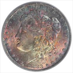 1883-O Morgan Silver Dollar PCGS MS63 Colorfully Toned Obverse