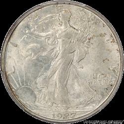 1927-S Walking Liberty Half Dollar PCGS MS-65