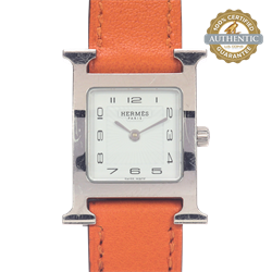 Hermes H Watch HH.210 Women Stainless and Leather