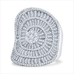 Amazing Quality 5.5cttw Diamond Cluster Ring in 18k White Gold