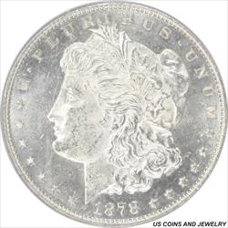1878 7/8TF  Weak Morgan Silver Dollar PCGS MS62PL 7 over 8 Tail Feather Proof Like