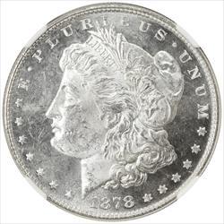1878 8TF Morgan Silver Dollar NGC MS63PL