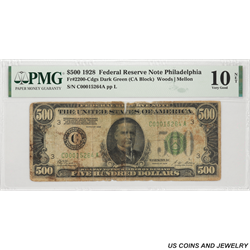 1928 $500 Federal Reserve Note FR# 2200C PMG VG 10 NET SN# C00015264A