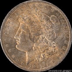 1882-O Morgan Silver Dollar PCGS MS63 Antique bronze color Toning