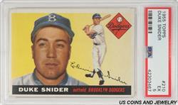 1955 TOPPS DUKE SNIDER #210 PSA EX 5