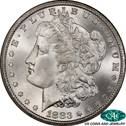 1883-CC Morgan Silver Dollar PCGS  MS67 CAC - White and a Super Nice Coin