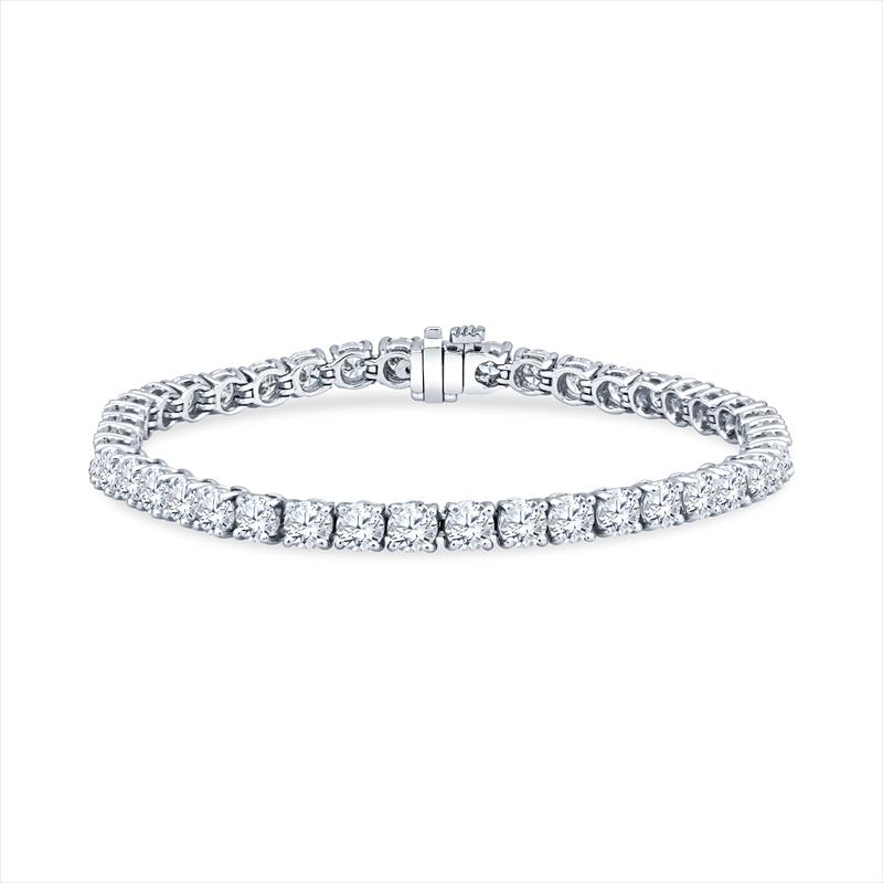 10.5cttw Diamond and Platinum Tennis Bracelet (42 ROUNDS) .25 AVG F-G-SI