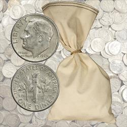 $100 Face Value 90% Silver Dimes - 1000 total coins 1964 and before