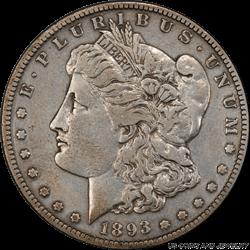 1893-S Morgan Silver Dollar PCGS VF Detail