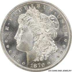 1879-S Morgan Silver Dollar PCGS MS66 Rolling Jet White Luster