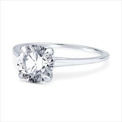 1.71ct GIA Certified Round Brilliant Solitaire Engagement Ring in 14k White Gold