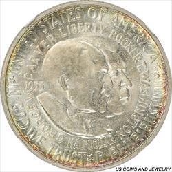1953 50C Washington-Carver Half Dollar Commem NGC MS64 Light Golden Halo