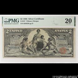 1896 $2 Silver Certificate,  Fr. 247, PMG 20 Very Fine - Nice Note