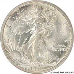ONE  1941 D Liberty Walking half dollars very sharp coins.... AU//AU