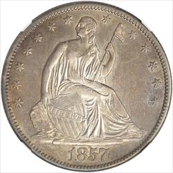 1857-O Seated Liberty Half Dollar NGC AU55