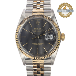 Rolex 36MM Date Just 16013 TT SS & 18K YG Jubilee Watch and Papers