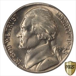 1948 Jefferson Nickel PCGS MS67FS TOP GRADED COIN POP 1