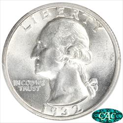 1932-S Washington Quarter PCGS AU58 CAC Key Date