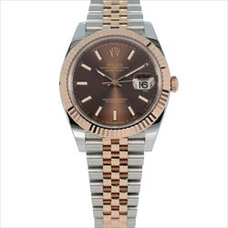 Rolex 41mm Datejust 126331 Chocolate Dial TT 18K RG and SS Watch Only