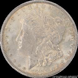 1904 Morgan Silver Dollar PCGS MS63 Very Original Rich Patina