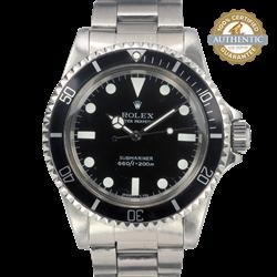 Rolex 40mm Submariner 5513 Watch Only Vintage 1966