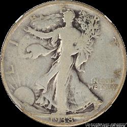 1938-D Walking Liberty Half Dollar NGC VG08 Low Mintage Key Date