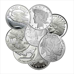 1 OZ ROUNDS SILVER (LIVE)