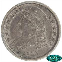 1833 Capped Bust Dime PCGS and CAC XF45 CAC