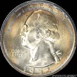 1952 WASHINGTON 25C PCGS MS 65