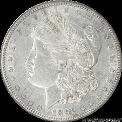 1892-S Morgan Silver Dollar NGC AU50 Low Mintage Key Date