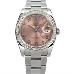 Rolex 36mm Datejust 116200 Pink Roman Dial AM DB Watch Only