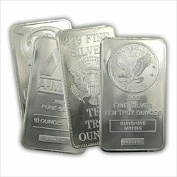 Assorted 10oz Silver Bar
