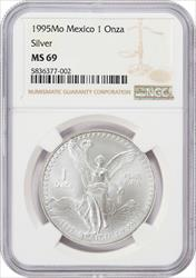 1995Mo Mexico 1 onza NGC MS69