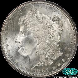 1881-S Morgan Silver Dollar PCGS and CAC MS67 Brilliant White PQ+ Coin