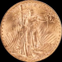 1923 Saint St. Gaudens $20 Gold Double Eagle OGH PCGS MS 61