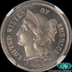 1883 Three Cent Nickel NGC CAC PF66* Star