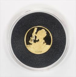 Disney Rarities Mint 1/4 Troy OZ 999 Gold DOPEY from Snow Whites 50th Anniversary Series