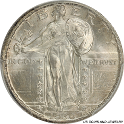 1930 Standing Liberty Quarter PCGS MS67FH