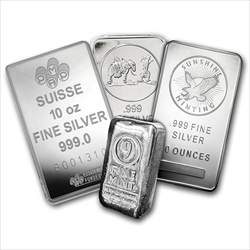 Random 10 oz Silver Bars chosen from available stock