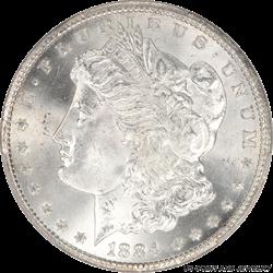 1884-CC Morgan Silver Dollar PCGS MS66 Gem Brilliant Frosty White